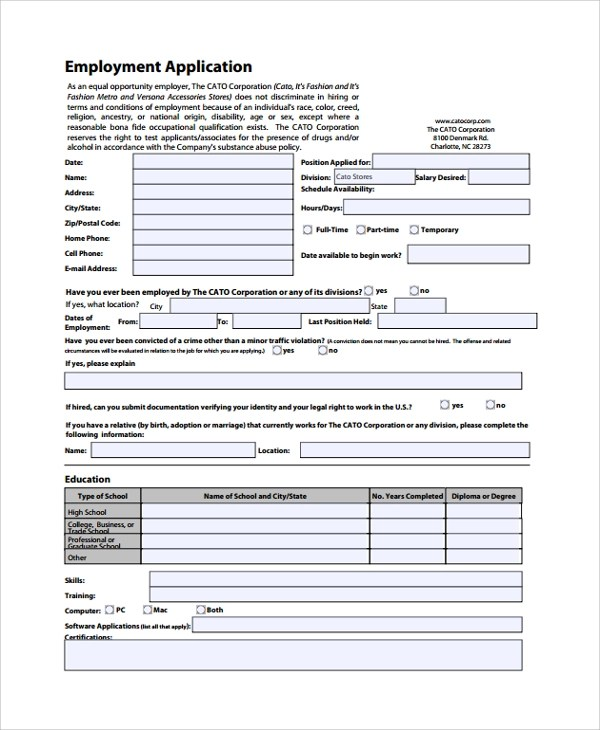 Printable Job Applications Foot Locker Job Application Presence - printable job application form