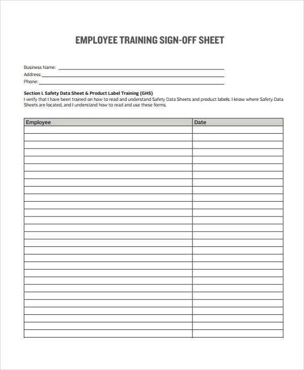 8+ Sample Sign Off Form Templates - PDF