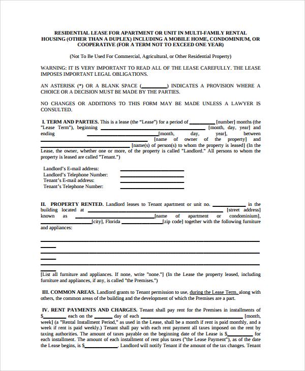 20+ Sample Rental Agreements Sample Templates