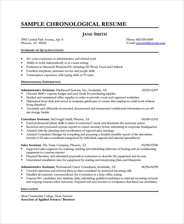 35+ Sample Resumes Sample Templates