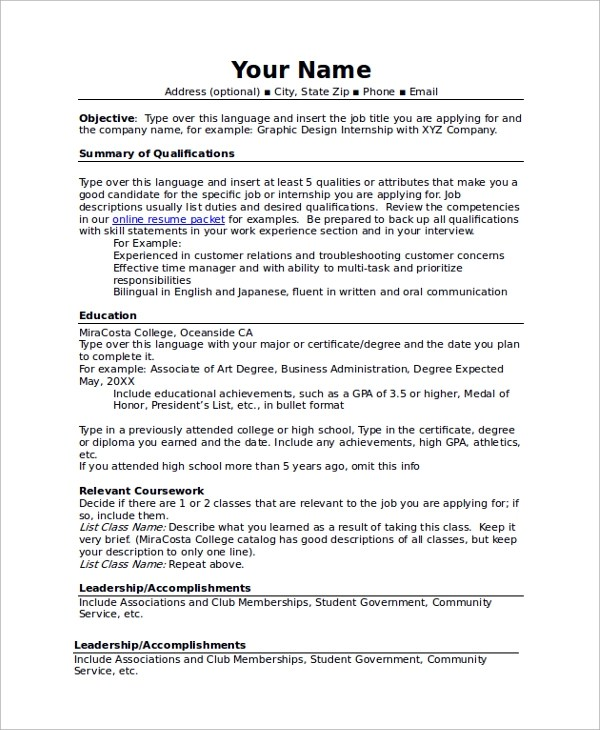 Community Service Resume Cover Letter - resume community service