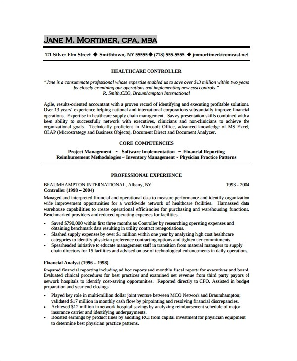 Sample Resume - 34+ Documents in PDF, Word - combined resume template