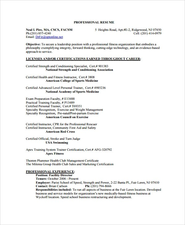 35+ Sample Resumes Sample Templates
