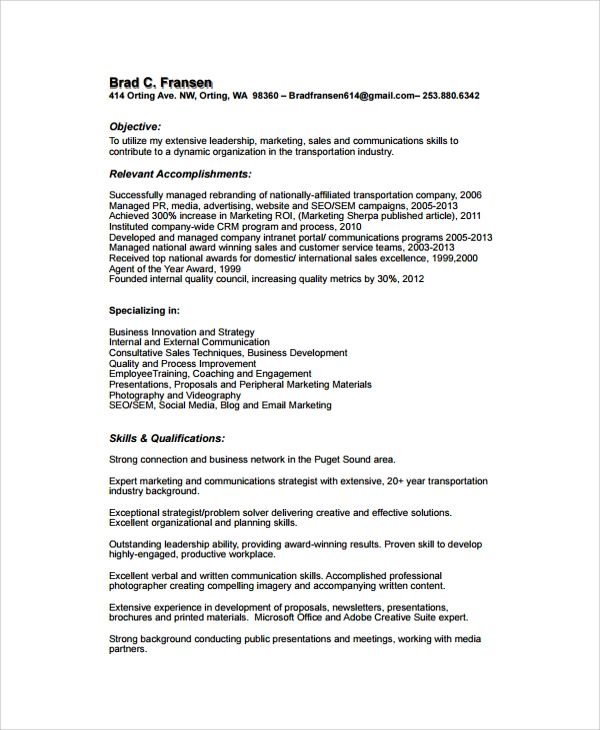 download template for resumes