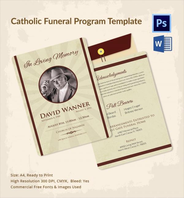 Sample Catholic Funeral Program - 12+ Documents in PDF, PSD, WORD