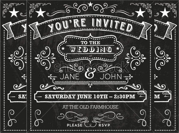 19+ Chalkboard Invitations - PSD, Vector EPS