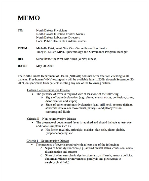 Sample Memo Format - 26+ Documents in PDF, Word