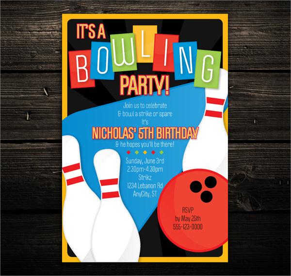 16+ Bowling Invitation Templates Sample Templates - bowling invitation