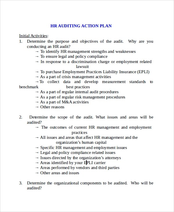 Sample Audit Plan Template Here Is Preview Of Another Sample - audit plan template