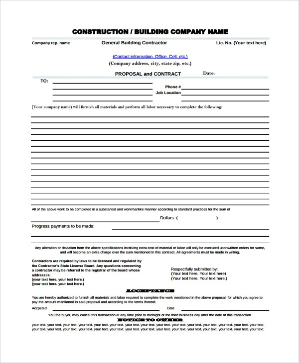 18+ Proposal Templates - Free Sample, Example, Format - price proposal template