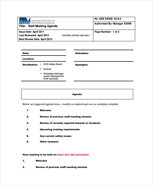 sle business meeting agenda - 28 images - company meeting minutes - meeting agenda outline