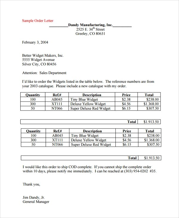 Letter of intent purchase order resume pdf download letter of intent purchase order purchase order letter sample format sample order letter 8 documents in spiritdancerdesigns Gallery