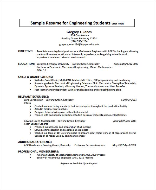25+ Sample Resumes Sample Templates - sheet metal worker sample resume