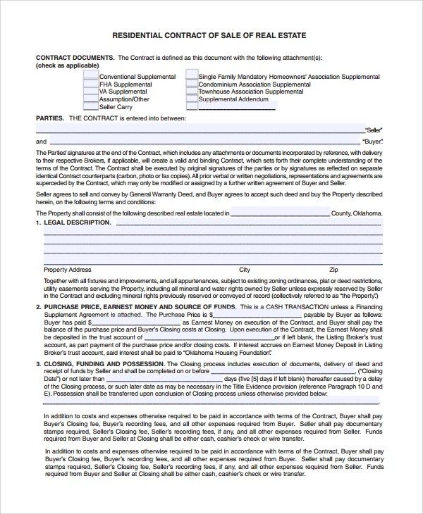Sample Sales Contract - 7+ Documents in Word, PDF - sample sale order template