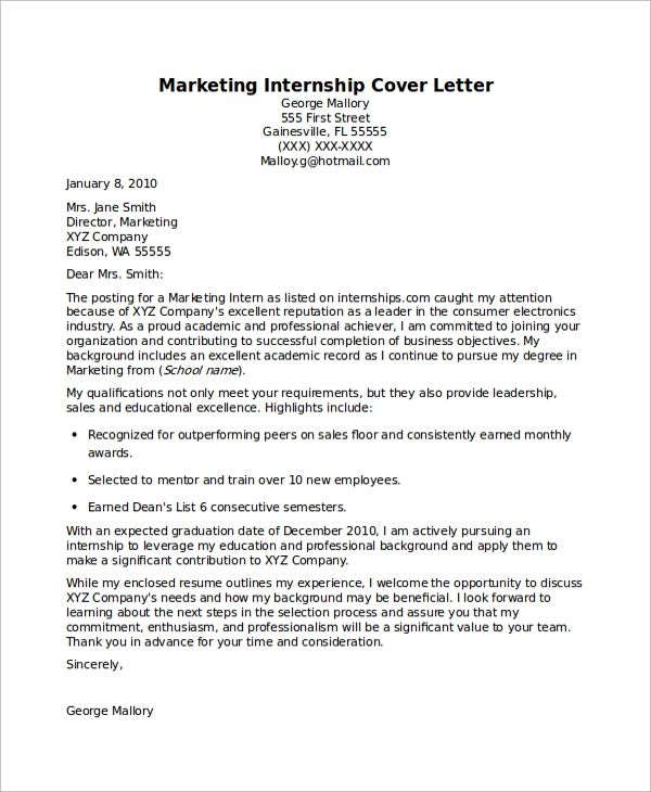 how to construct a cover letters