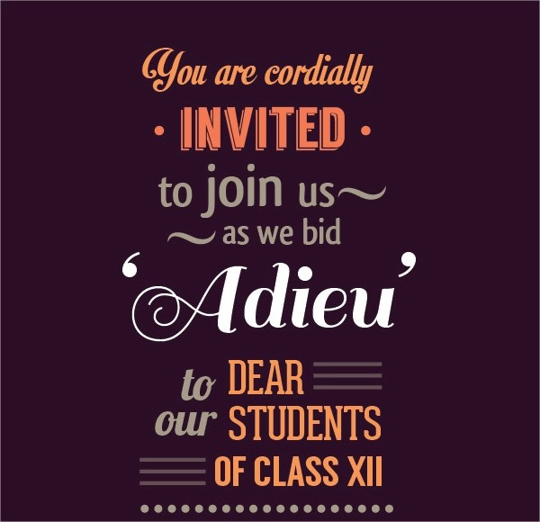 Farewell Party Invitation Template - PSD, Vector EPS - farewell invitations templates