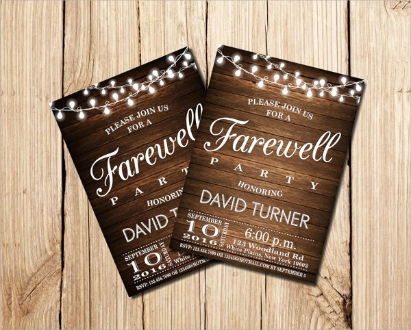 13+ Farewell Party Invitation Templates Sample Templates