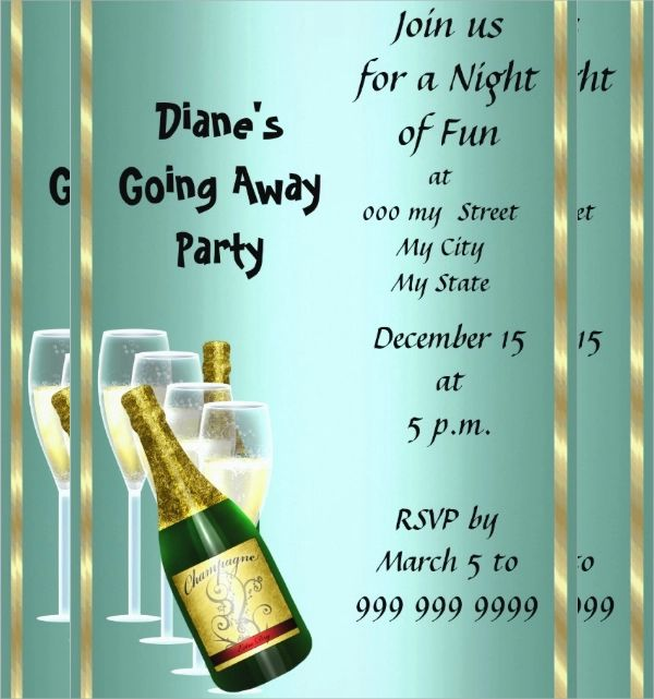 invitation to farewell party