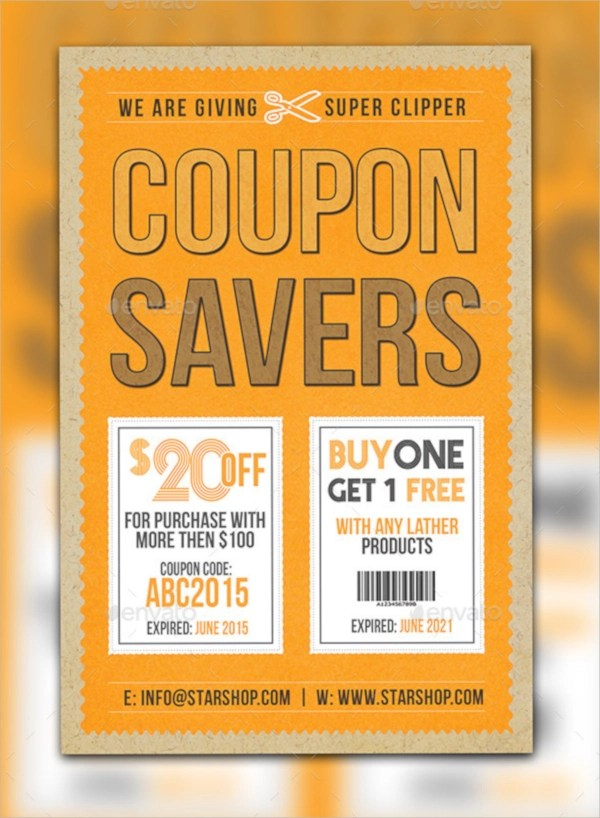 11+ Coupon Flyers - PSD, AI, Vector EPS