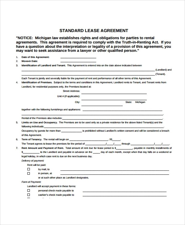 Sample Apartment Lease Agreement - 7+ Documents In PDF, Word - rental lease agreement