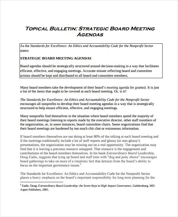 Board agenda templates 9 free word pdf format download free