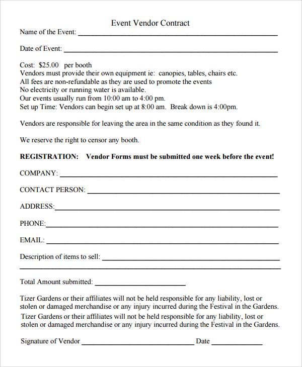 9+ Sample Vendor Registration Forms Sample Templates