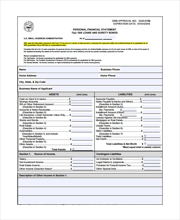 20+ Sample Statements Sample Templates - business statement template