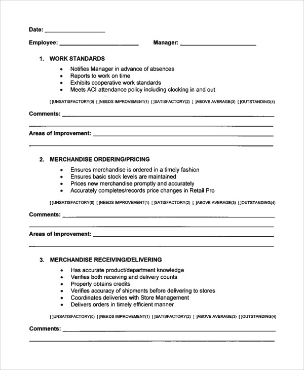 Sample Employee Evaluation Form - 7+ Documents in Word, PDF - product evaluation form