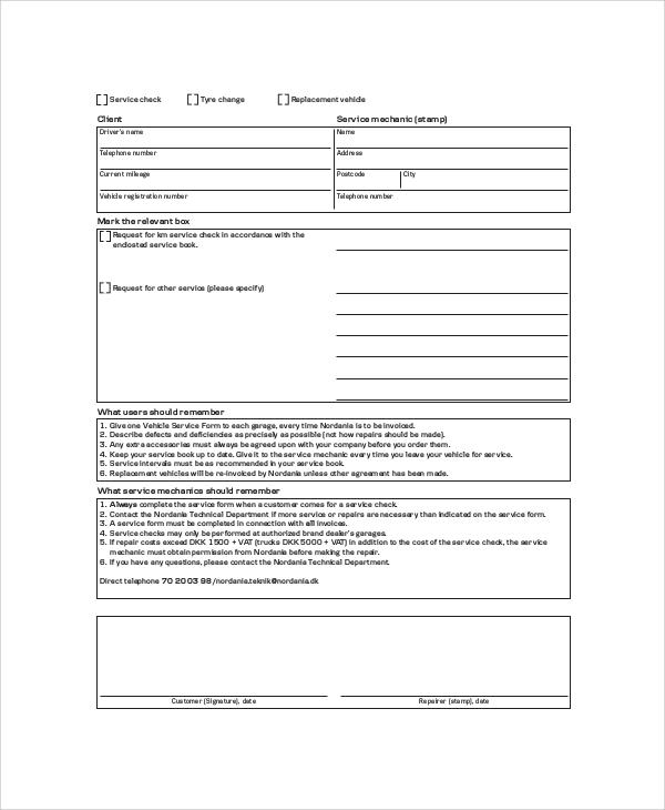 Sample Service Invoice - 6+ Documents In PDF - car service invoice