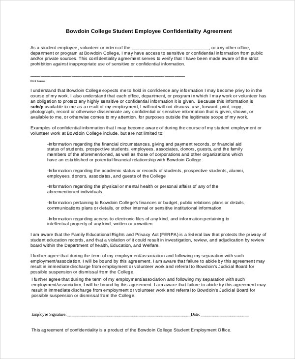 7+ Sample Financial Confidentiality Agreements Sample Templates - financial confidentiality agreements