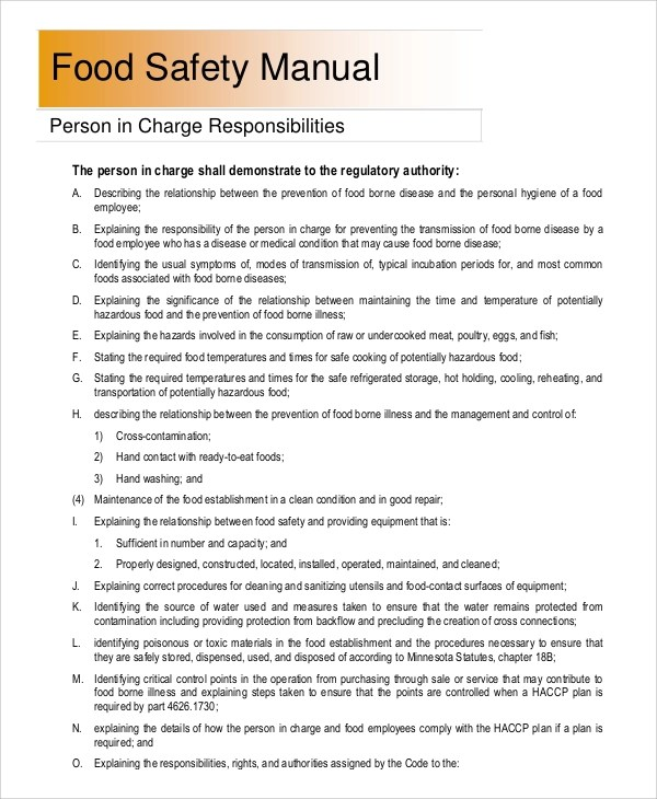 8+ Sample Safety Manuals Sample Templates - sample safety manual template
