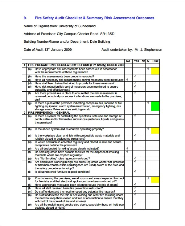 Sample Risk Assessment Report - 6+ Documents in Word, PDF - risk assessment report
