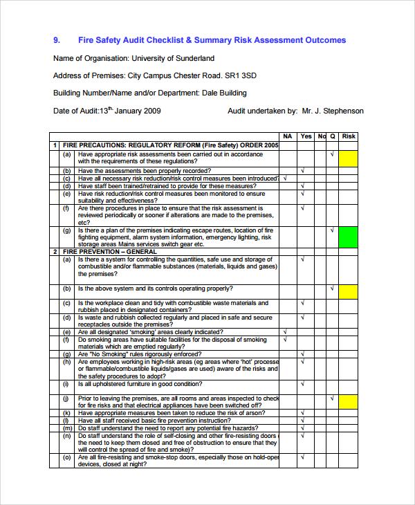 7+ Sample Risk Assessment Report Templates Sample Templates - risk assessment report