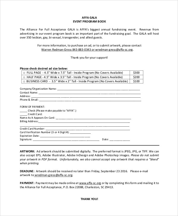 make event program - Josemulinohouse - Event Program