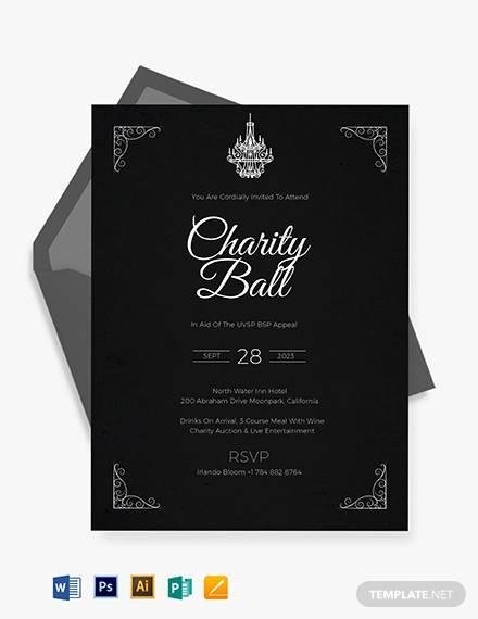 12+ Fundraiser Invitations - PSD, Vector EPS, Word