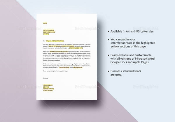 10+ Sample Final Notice Letters Sample Templates