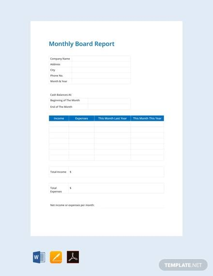 10+ Sample Board Reports - Google Docs, Apple Pages, Word