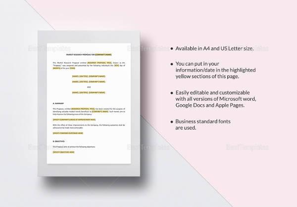 12+ Research Proposal Samples Sample Templates - proposal samples