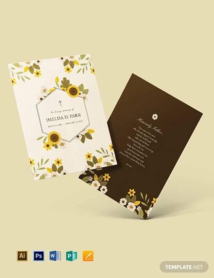 11+ Memorial Card Templates - AI, PSD, Word