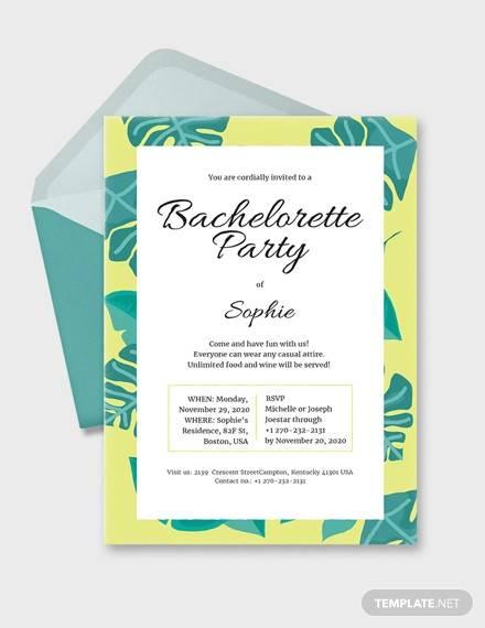 14+ Bachelorette Invitation Templates - EPS, PSD, Word, AI