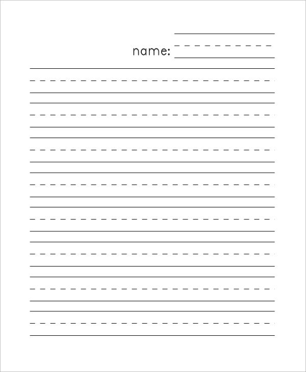 lined paper template for kindergarten