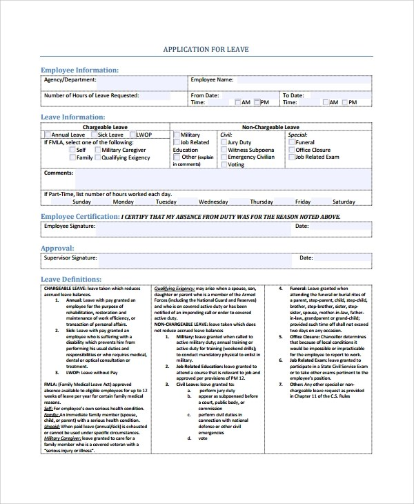 8+ Sample Employee Application Forms Sample Templates - employee application forms