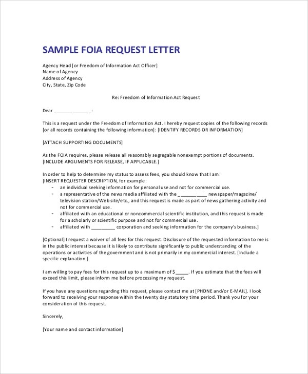 Formal Request Letter Sample Of A Letter Of Request For - formal letters