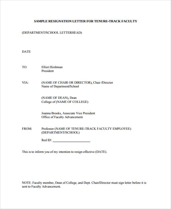 professor resignation letter - Onwebioinnovate