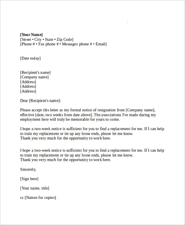 Resign Letter Sample Doc Download | Sponsor Form Dryathlon