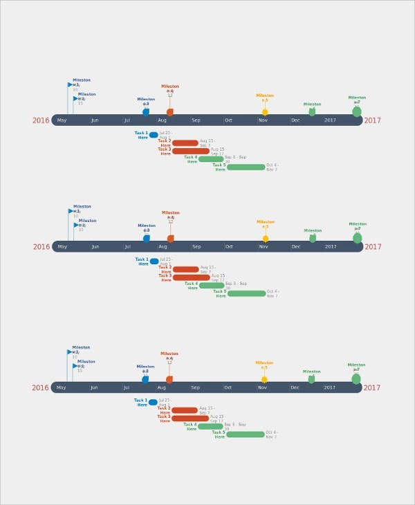 sample timelines in powerpoint - Romeolandinez - sample timelines