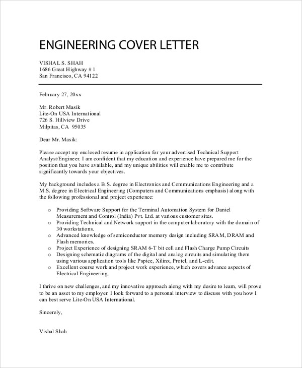 Sample Professional Cover Letter - 7+ Documents in PDF, Word - professional cover letters