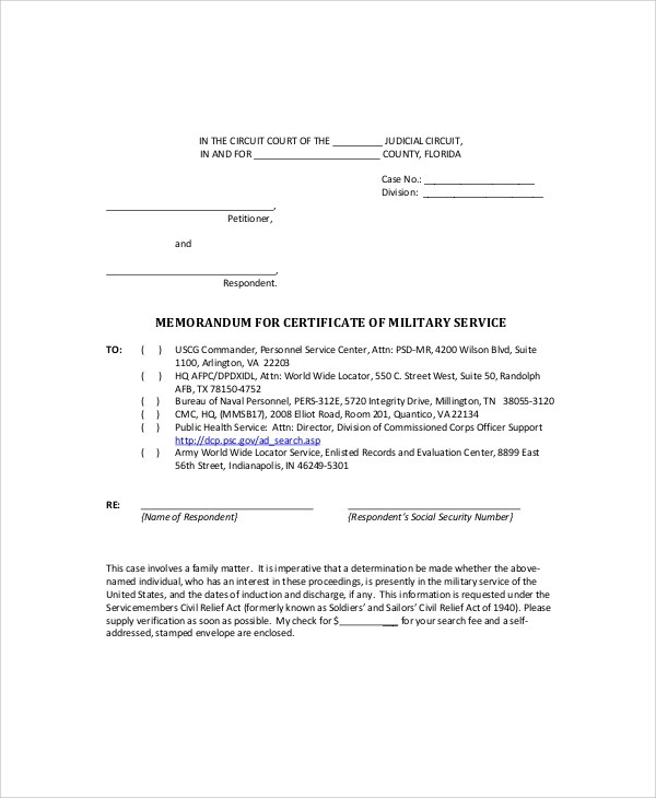 Army Memo Sample - 6+ Documents in PDF - army memo
