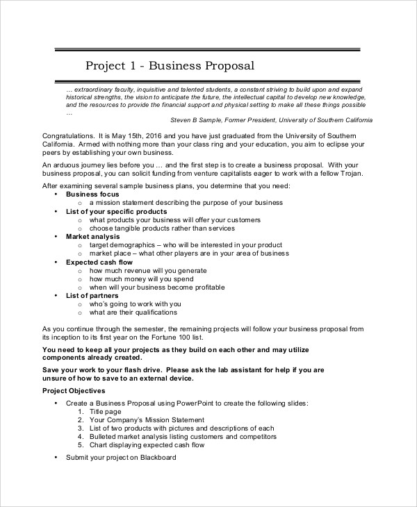 14+ Sample Project Proposals Sample Templates - Project Proposal Sample