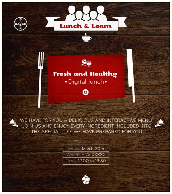 Luncheon Flyer Template 6 potluck email invitation template – Lunch Flyer Template